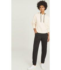reiss edel - overhead jersey hoodie in neutral, womens, size xl
