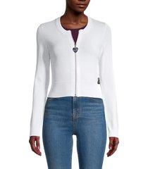 love moschino women's zip-up jacket - black - size 44 (10)