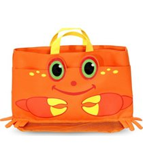 melissa and doug clicker crab beach tote bag