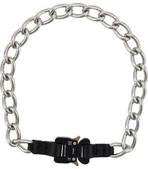 1017 alyx 9sm buckle detail chain necklace - black