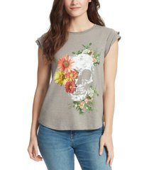 william rast molly floral-graphic t-shirt