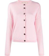 marni drop-shoulder cardigan - pink