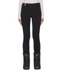 'fuseau' tricolour stripe fleece lining ski pants