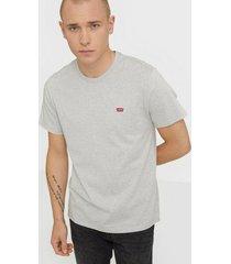 levis the original tee hm patch og t t-shirts & linnen grey stone