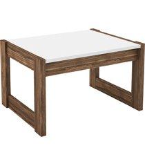 mesa de centro, tecno mobili, az1022, no marrom/branca - branco - dafiti