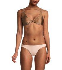 anne cole women's tie-knot bikini top - bronze - size xl