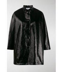 balenciaga shiny coated opera coat