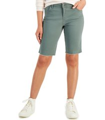 style & co petite stretch twill bermuda shorts, created for macy's