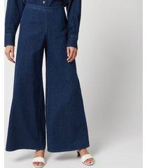 simon miller women's wide leg trousers - rinsedown - w28