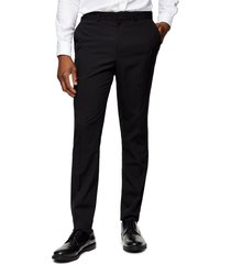 men's topman skinny fit tuxedo dress pants, size 34 x 32 - black