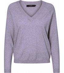 vero moda zachte paarse loose fit trui