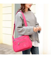 donna solid crossbody borsa waterproof casual borsa