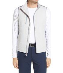 men's peter millar fuse hybrid vest, size large - grey