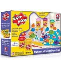 super massa nãºmeros e formas divertidas - estrela - incolor/multicolorido - dafiti