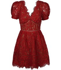 fine cord lace mini dress