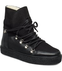 lola wool shoes boots ankle boots ankle boot - flat svart pavement