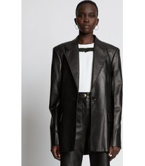 proenza schouler leather blazer black 2