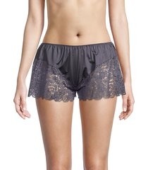 hanro women's wanda lace shorts - dust - size xs