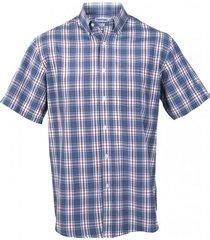 camisa fantasía clásica manga corta azul kotting
