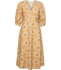 valarie dress knälång klänning gul notes du nord
