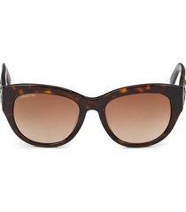 swarovski women's 54mm square sunglasses - dark havana