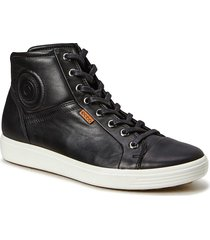 soft 7 w höga sneakers svart ecco