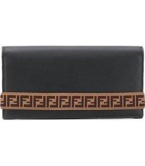 fendi ff tape strap wallet - black