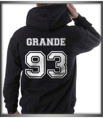 grande 93 white ink ariana grande printed on back of black hoodie s to 3xl