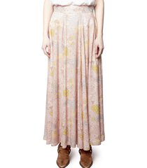 women's zadig & voltaire joyo glam print skirt, size 4 us - pink