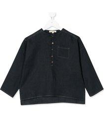 caramel pimlico half-buttoned shirt - blue