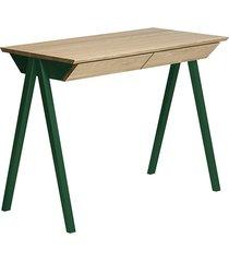 dębowe biurko vogel s zielone