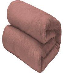 cobertor solteiro camesa flannel loft rosa - multicolorido - dafiti