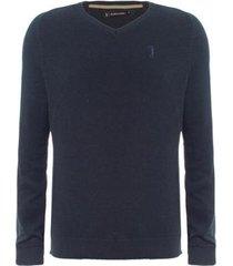 suéter aleatory gola v texturizado masculino