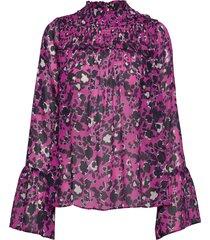 donna blouse blus långärmad rosa by malina