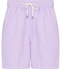 polo ralph lauren traveller drawstring swim shorts - purple