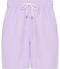 polo ralph lauren traveller drawstring swim shorts - purple