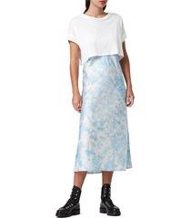 women's allsaints imo t-shirt & tie dye midi dress