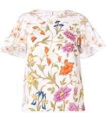 peter pilotto botanical print blouse - white