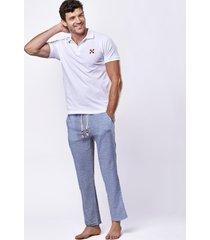 striped printed linen pants