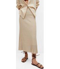 mango pleated knit skirt