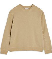 petite women's topshop oversize crewneck sweatshirt