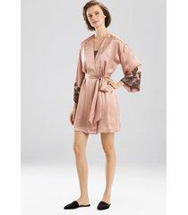 lolita robe, women's, red, 100% silk, size l, josie natori