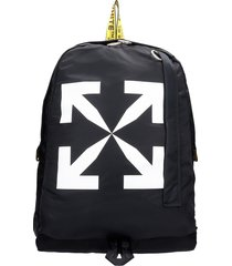 off-white arrow easy backpack in black polyester