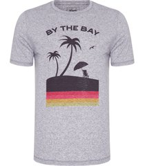 camiseta masculina by the bay - cinza