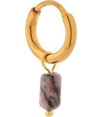 label kiki oorring small singlet sodolite tube hoop, goud
