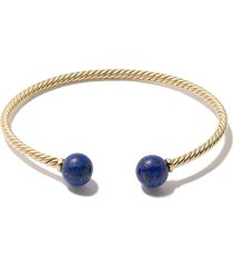david yurman 18kt yellow gold solari lapis lazuli bead cuff bracelet -