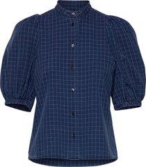 dalia shirt blouses short-sleeved blauw britt sisseck