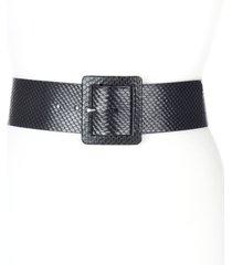 women's brave leather dansi wide snakeskin embossed leather belt