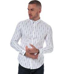 mens allover logo stretch cotton shirt