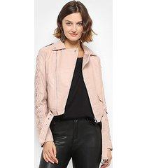 jaqueta facinelli trançada feminina